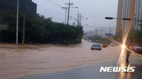 [사진]침수된 도로