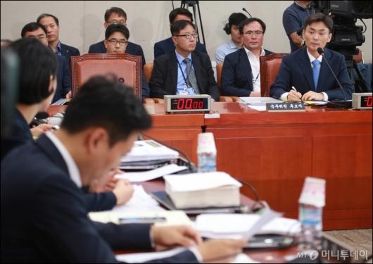 [사진]박성진 중기벤처부 장관 후보자 인사청문회