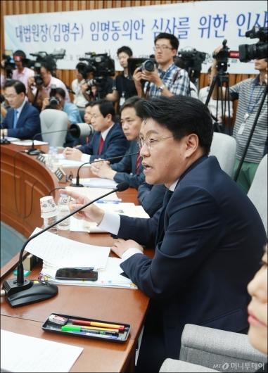 [사진]장제원 '김명수, 대법원장 자격 없어'
