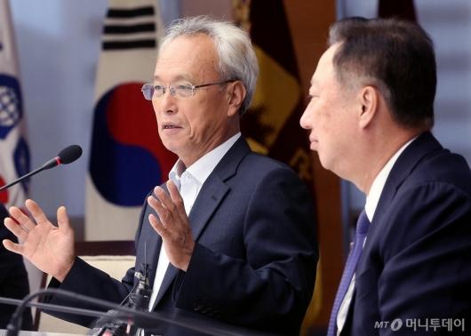 [사진]발언하는 문성현 신임 노사정위원장