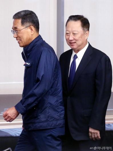 [사진]대한상의 찾은 김주영 한국노총 위원장