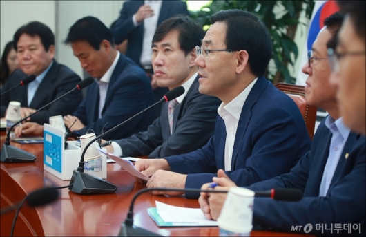 [사진]의원전체회의 주재하는 주호영 권한대행