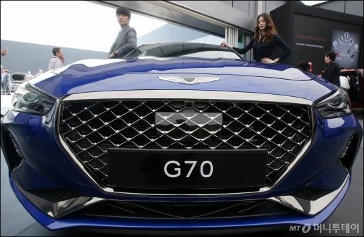 [사진]웅장한 제네시스 'G70'