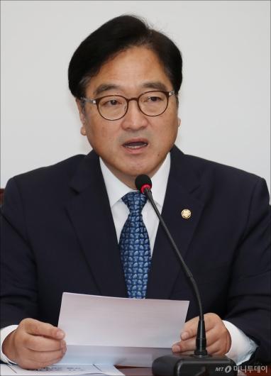 [사진]우원식 '국민의당·바른정당 인준 협조 부탁'