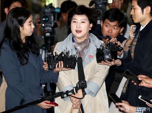 [사진]고 김광석 아내 서해순 경찰 출석