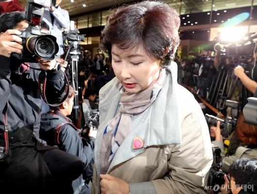 [사진]故 김광석 아내 서해순 경찰 출석