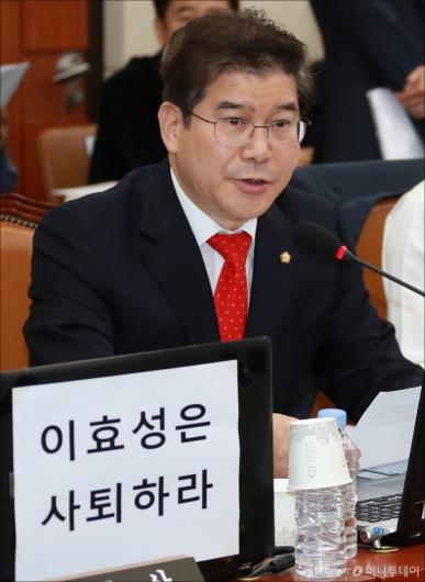 [사진]김성태 '이효성 방통위원장, 적폐위원장이라 부를 것'