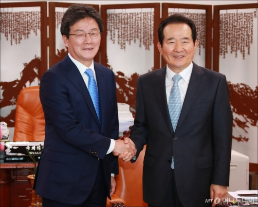 [사진]국회의장 예방한 유승민 바른정당 신임대표