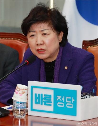 [사진]발언하는 박인숙 바른정당 최고위원