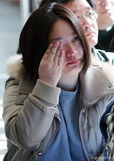[사진]MBC 마지막 집회, '눈물 흘리는 조합원'