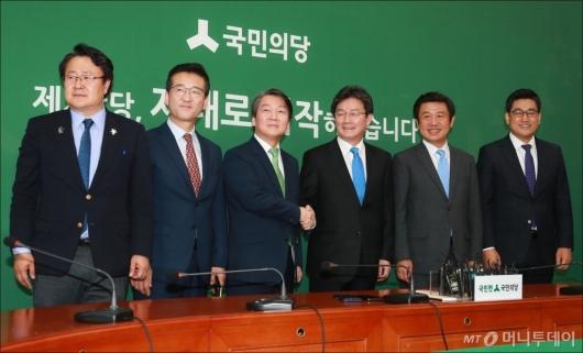 [사진]국민의당 예방한 바른정당