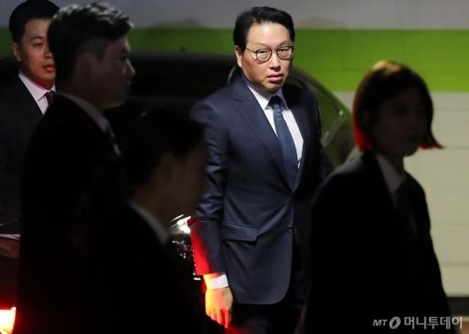 [사진]최태원, 이혼조정 신청 첫 조정기일 출석