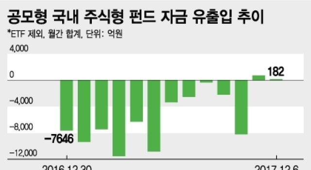 '주식형 펀드' 부활 조짐… 2년 만에 최장 기간 순유입