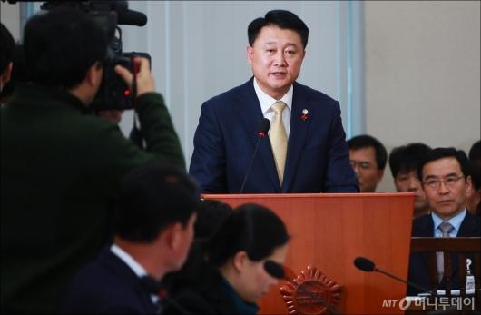 [사진]제천 참사 현안보고하는 이철성 경찰청장