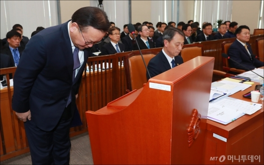 [사진]고개 숙인 김부겸 행안부 장관