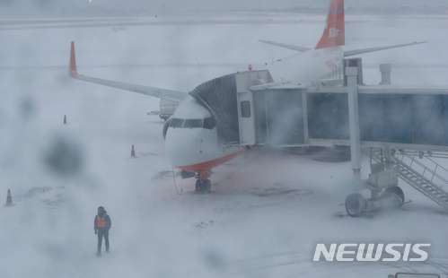 [사진]제주공항 9시45분까지 활주로 운영 중단