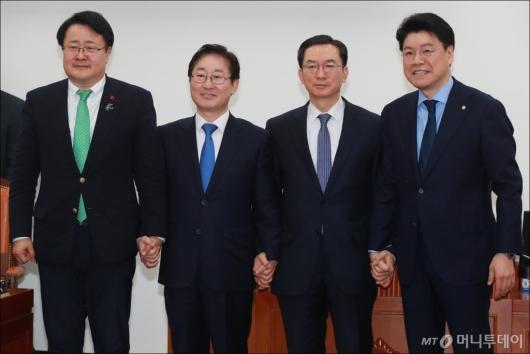 [사진]국회 사개특위 첫 회의, 정성호 위원장과 3당 간사