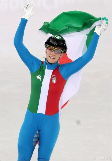 [사진]아리아나 폰타나, '500m 금메달'