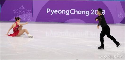 [사진]김규은, '착지 실패'