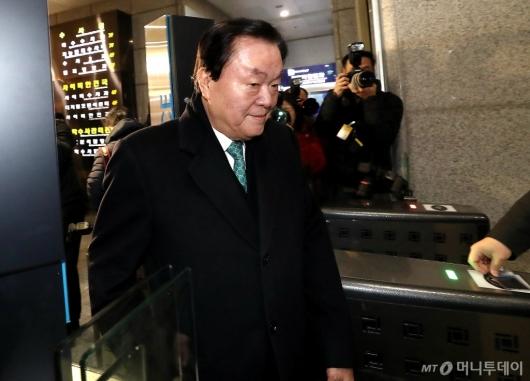 [사진]김경재 총재 경찰소환
