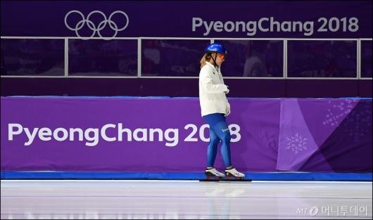 [사진]김보름, '매스스타트 훈련 준비'