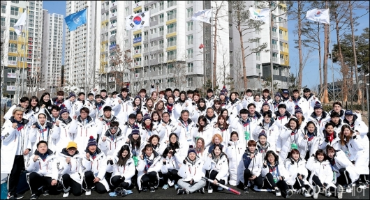 [사진]'평창동계올림픽' 마무리한 대한민국 선수단