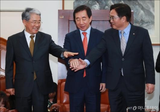[사진]여·야 3당 원내대표 '개헌 논의 잘 해봅시다'
