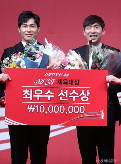 [사진]이승훈-윤성빈, '우리는 최우수선수'