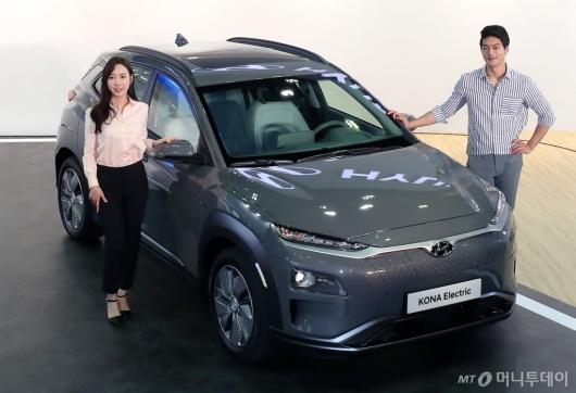 [사진]현대차, 소형 전기 SUV '코나 일렉트릭' 공개