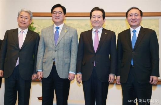[사진]한국당 불참한 국회의장-교섭단체 원내대표 정례회동