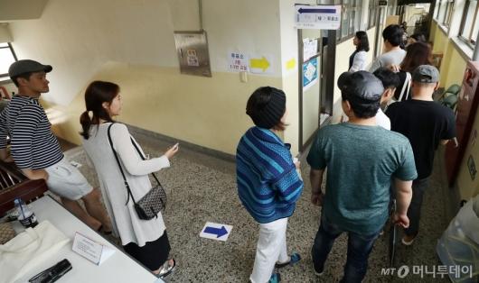 [사진]줄지어선 투표행렬