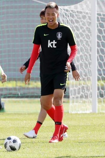 [사진]김신욱, 즐거운 첫 훈련