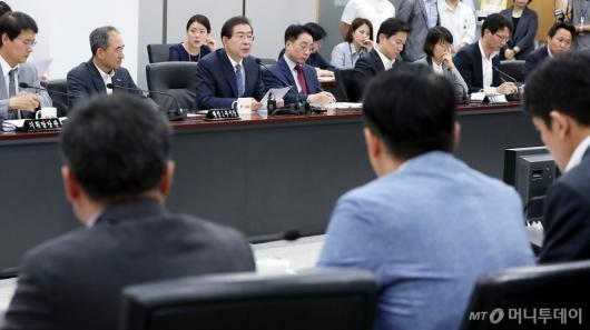 [사진]정례간부회의 발언하는 박원순 시장