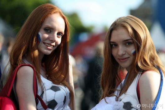 [사진]'러시아 응원해요'