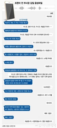 [단독]조현아 갑질 음성파일