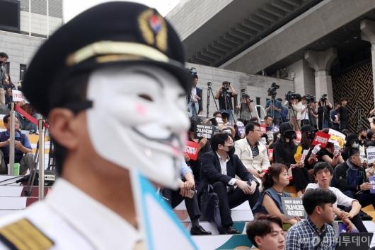 [사진]아시아나 직원 집회, 대한항공 직원도 합세
