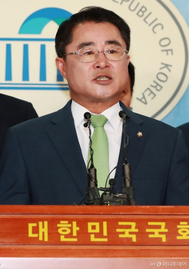 [사진]최경환, 민주평화당 대표 출마 선언