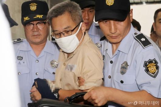 [사진]드루킹, 김경수 지사와 같은 날 특검 출석