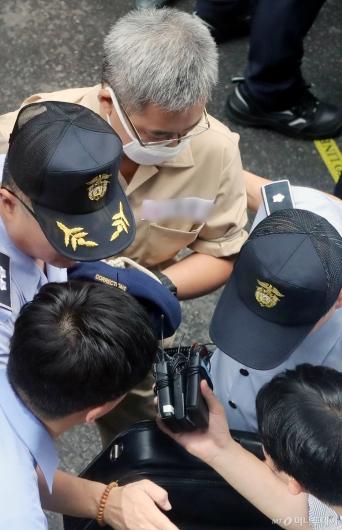 [사진]드루킹, 김경수 지사와 대질신문 초읽기