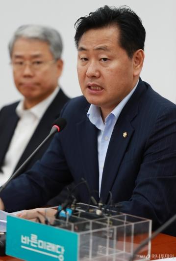 [사진]모두발언하는 김관영 바른미래당 원내대표