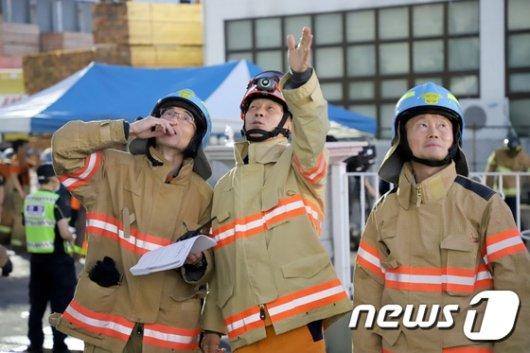 [사진]조종묵 소방청장, 인천 남동구 공장화재 현장 방문