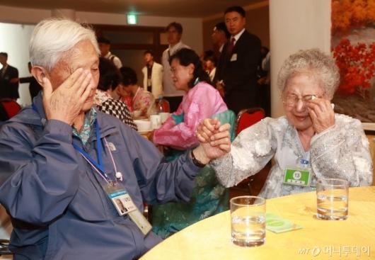 [사진]'손 꼭 잡고 눈물 흘리는 이산가족'
