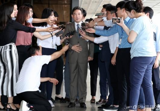 [사진]이규진 전 상임위원 검찰 출석