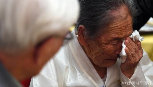 [사진]이산가족 작별상봉 '하염없는 눈물'
