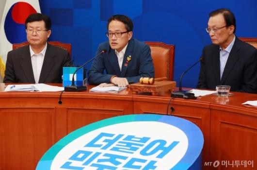 [사진]모두발언하는 박주민 신임 최고위원