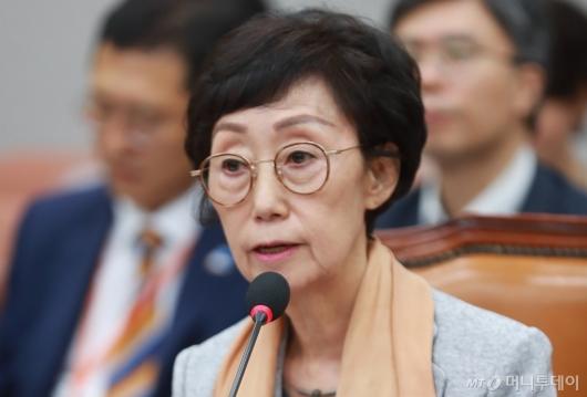 [사진]인사청문회 출석한 최영애 국가인권위원장 후보자