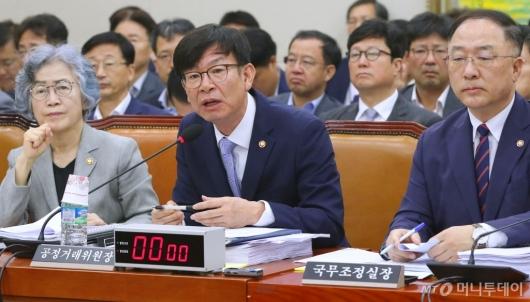 [사진]정무위 출석한 김상조 공정거래위원장