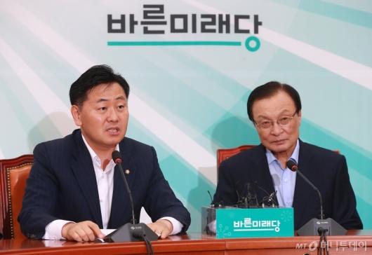 [사진]김관영 바른미래당 원내대표 예방한 이해찬 민주당 신임 대표
