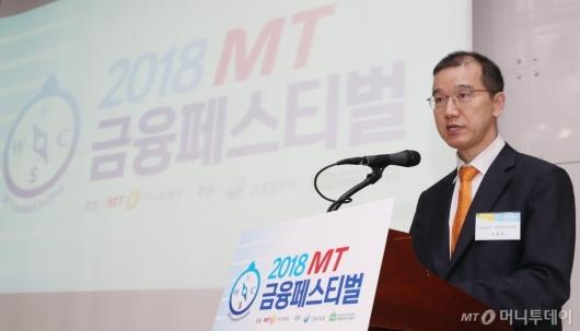 [사진]축사하는 이상제 금감원 금융소비자보호처장