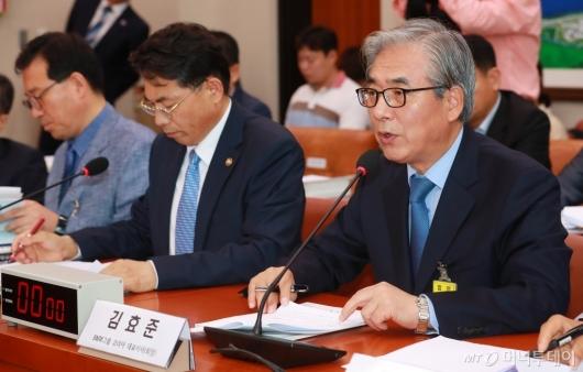 [사진]BMW 화재 관련 답변하는 김효준 회장